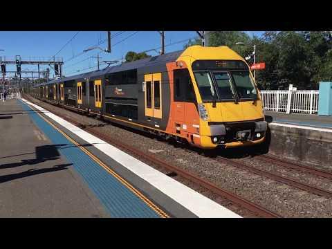 Double-decker suburban / metro trains at Sydney's Summer Hill