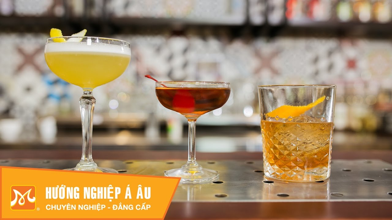 Cách pha chế Cocktail từ Whisky: Whisky Sour, Manhattan, Old Fashioned | Học Bartender