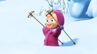 Маша и Медведь - первые серии - Праздник на льду (10 Серия) Снегурочка (Серия 9)
