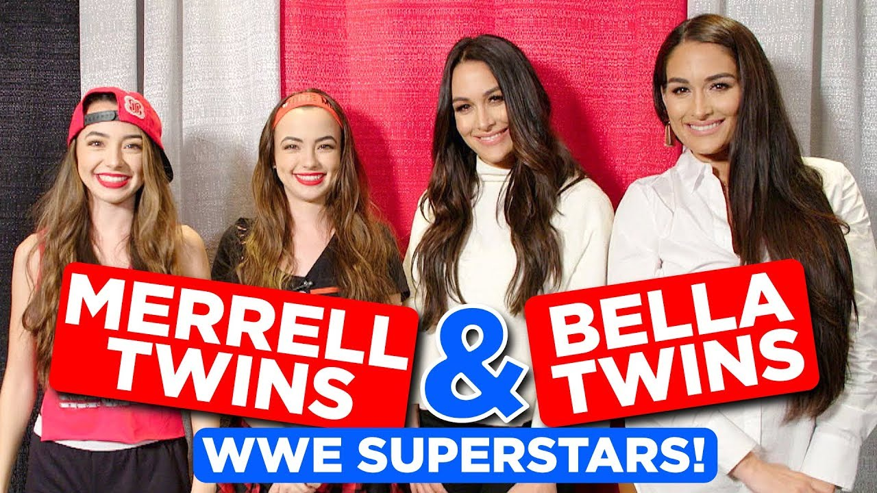 WWE Superstars for a Day ft  Bella Twins - Merrell Twins