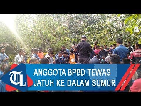 Anggota BPBD Bandar Lampung Tewas Jatuh Ke Dalam Sumur | Tribun Lampung News Video