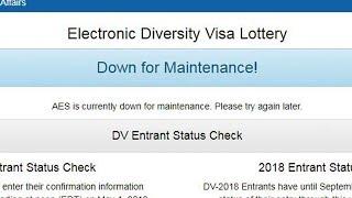 Edv website problem - down for maintenance! (electronic diversity visa lottery)