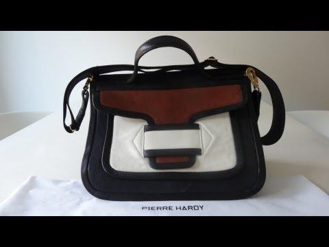 [SOLD] Pierre Hardy Classic Color Block Shoulder Messenger Bag calfskin rich leather ! SS/13