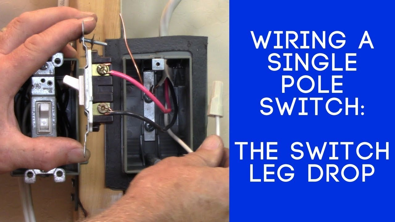 single pole switch to fluorescent light wiring diagram how to wire a light switch the switch leg loop drop youtube  how to wire a light switch the switch