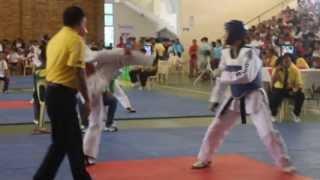 kenneth mark porras Palarong Pambansa 2013 1st fight