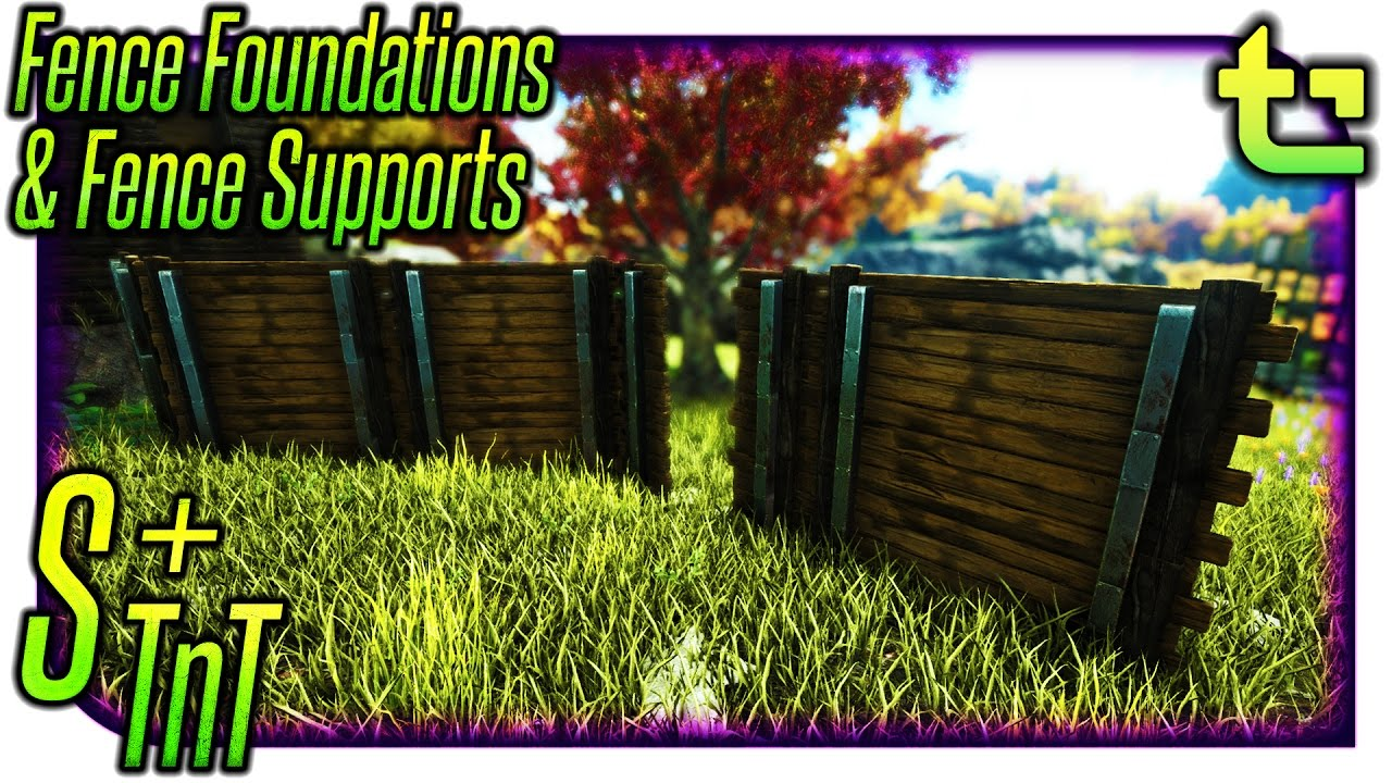 Ark S Tips Tricks Fence Foundations Fence Supports Timmycarbine Youtube