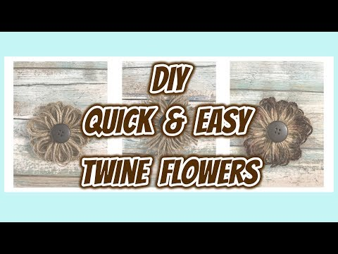 My QUICK & EASY to do Farmhouse TWINE Flowers | DIY Flowers |Dollar Tree DIY