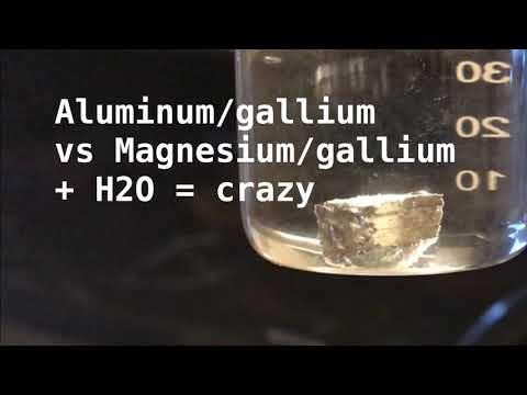 Magnesium- Gallium Amalgam + Water??