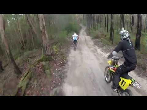Dirt Bike, Trail Riding Neerim South Victoria Australia Part 1