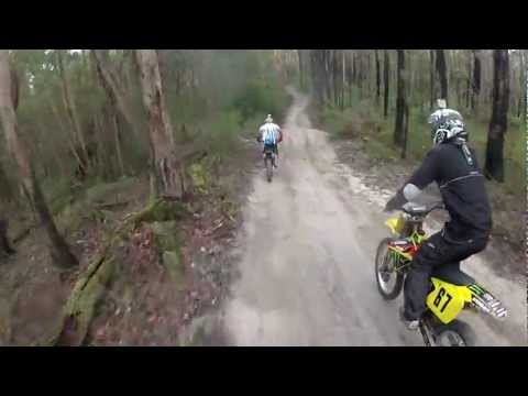 Dirt Bike, Trail Riding Neerim South Victoria Australia Part 1