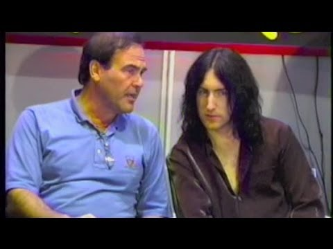 TRENT REZNOR and OLIVER STONE appear at music store -- 1996