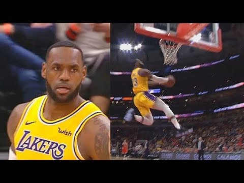 LeBron James Shocks Bulls Crowd With Crazy Bounce Pass Dunk From Kyle Kuzma! Lakers Vs Bulls