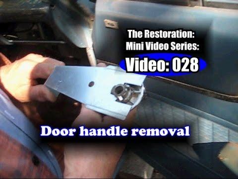 62 Fairlane Removing Inside Door Handles Panels Armrests