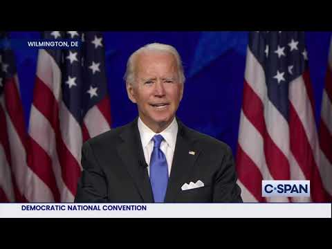Joe Biden Acceptance Speech at 2020 Democratic National Convention Joe Biden: .May history be able to say that the end of this chapter of American darkness began here tonight.. Full video here: cs.pn/2E3qHlt., From YouTubeVideos