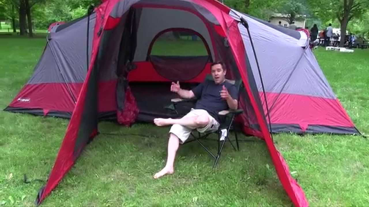 C&ing Gear- LightSpeed Outdoors Compound 8 Tent - 50 C&fires - YouTube  sc 1 st  YouTube & Camping Gear- LightSpeed Outdoors Compound 8 Tent - 50 Campfires ...