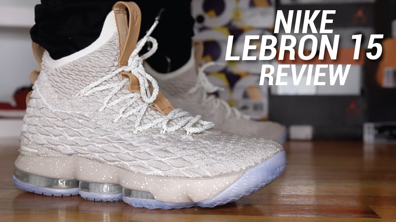 c4302b21e18b5 NIKE LEBRON 15 GHOST REVIEW - YouTube