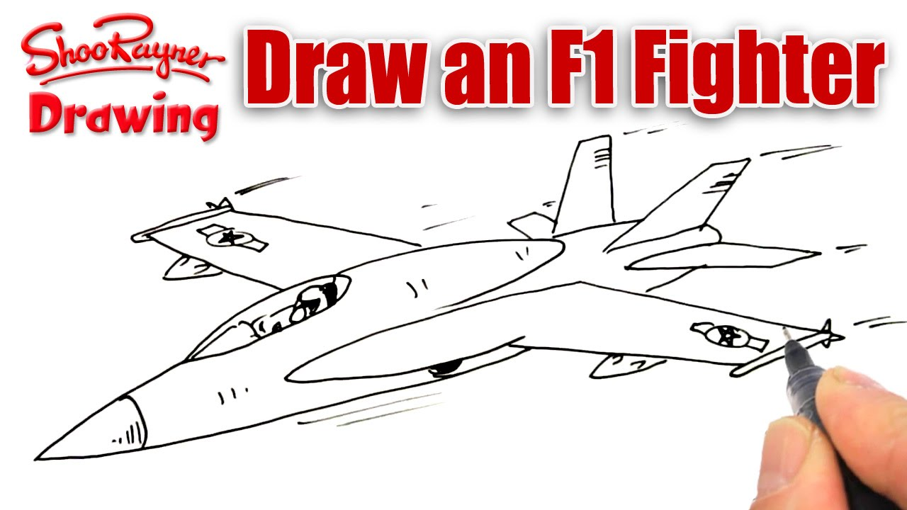 How To Draw An F 18 Fighter Plane Youtube