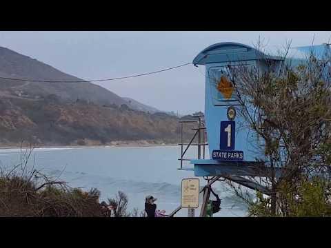 Leo Carrillo Beach and surfing California beach