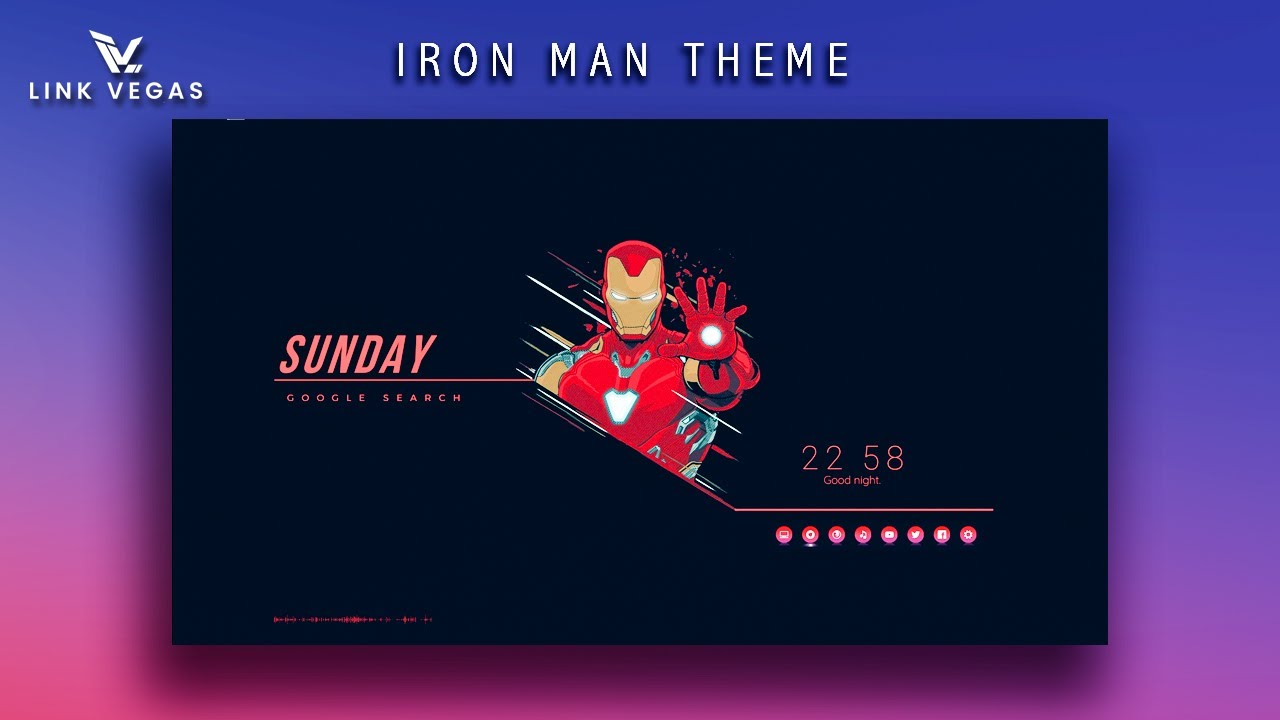 Iron Man Theme For Desktop | Windows 10 Customization | Rainmeter Theme | Best Windows Theme