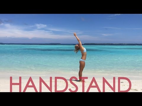 Beach Yoga Handstand Flow  - Practice with Kino in the Maldives
