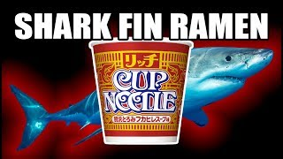 Shark Fin Cup Noodle Soup - What Are We Eating?? - The Wolfe Pit