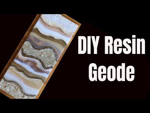 4. DIY Resin Geode \\ using Stone Coat Art Resin