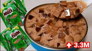 Trending!!! MILO JELLY SALAD / Sobrang Sarap! / Perfect Dessert! Must Try
