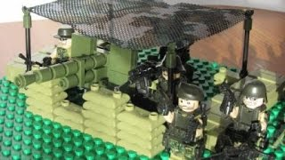 Военное лего видео. Современная армия с пушкой и масикировочной сетью