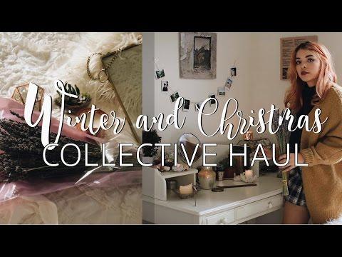 COLLECTIVE WINTER & CHRISTMAS HAUL 2016 | Boho Room Decor & Clothing!