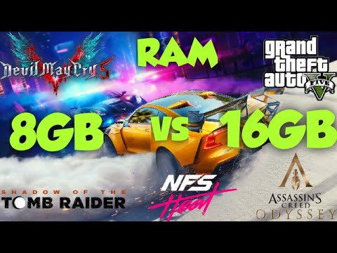 8Gb vs 16Gb RAM Test In 5 Games |
