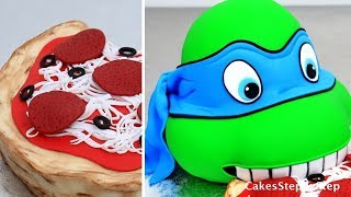 how to make a ninja turtle cake kids birthday cake idea by cakes stepbystep