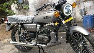 New Yamaha RX 100 Gun Metal Grey | Yamaha RX 100 | RX 100 Custom Made Bike