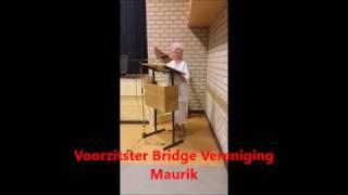 Droomvlucht van Voorzitster Bridge Vereniging Maurik 1 12 2016