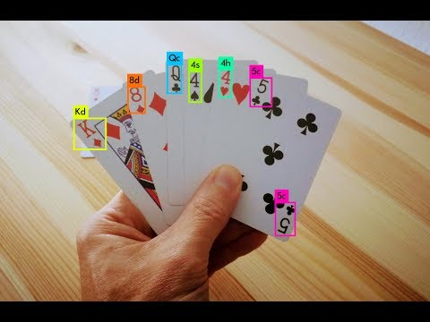 Playing card detection with YOLO - YouTube