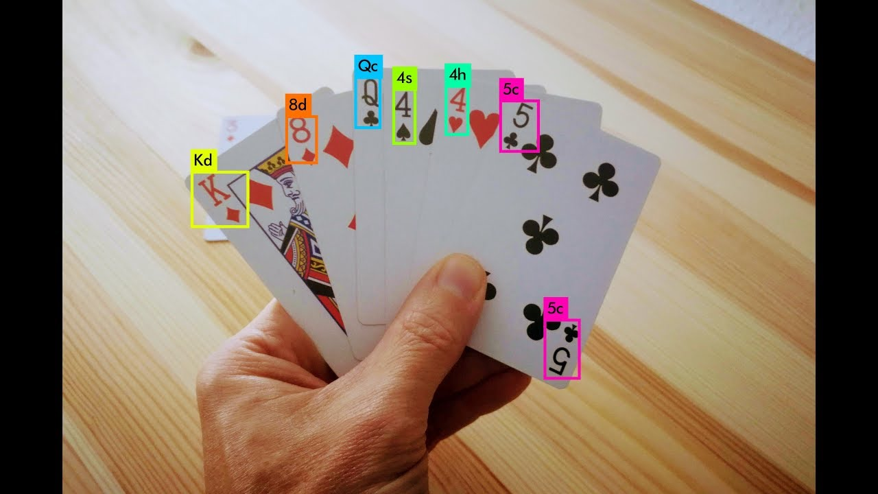 Playing card detection with YOLO