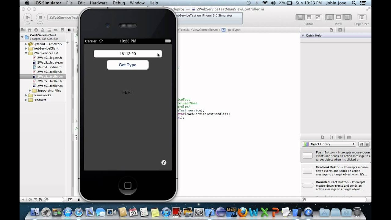 iOS connects to SAP web service