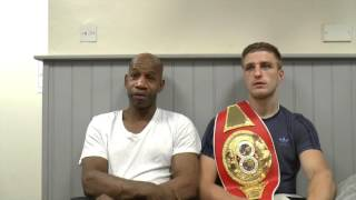 'ITS BEEN FANTASTIC SPARRING KELL BROOK HIS POWER WILL SHOCK EVERYONE' -REECE CARTWRIGHT & MANNERS
