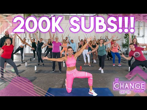 30 Minute Bodyweight HIIT Workout | 200,000 SUBSCRIBERS Celebration!!! The CHANGE Challenge | Day 26