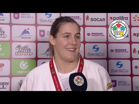 Interview Guusje STEENHUIS (NED) Winner BAKU Grand Slam 16
