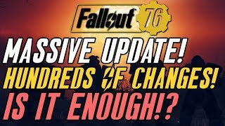 Fallout 76 HUGE UPDATES! Stash Increased! Special Respect