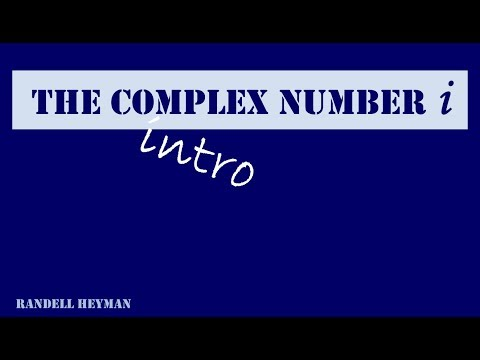 Understanding the complex number i