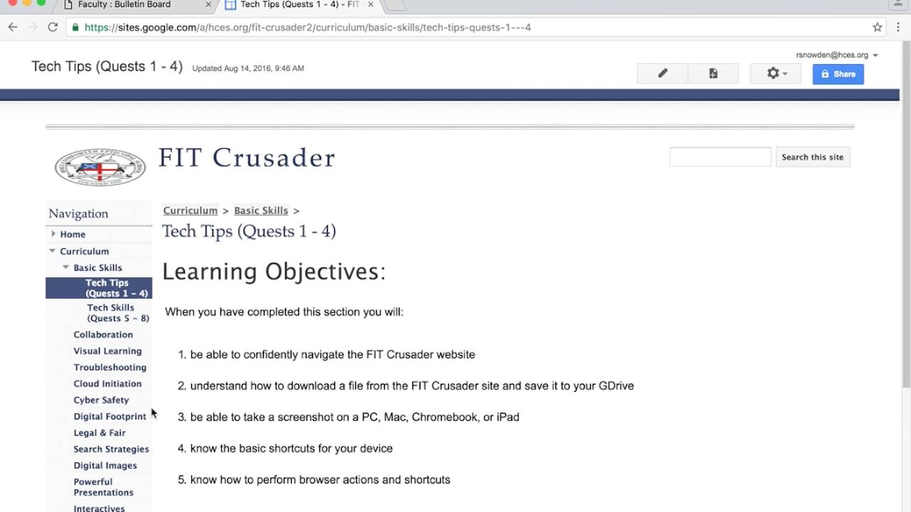 Intro to FIT Crusader Website (Navigation Video #1) - YouTube