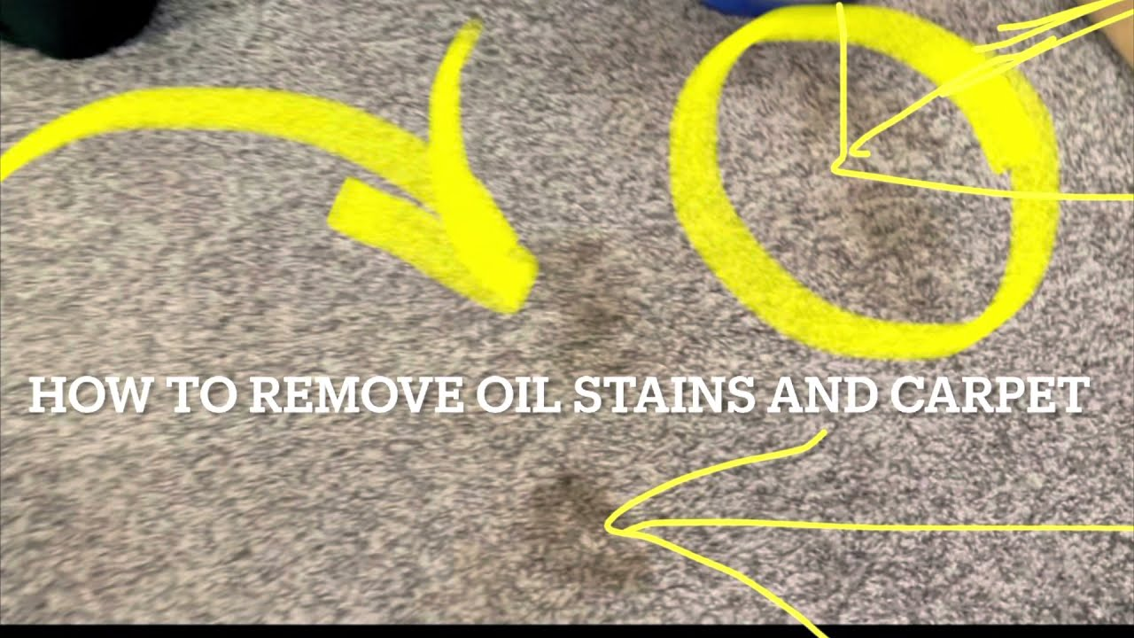 How to remove oil or grease from a carpet Guaranteed Quick and easy