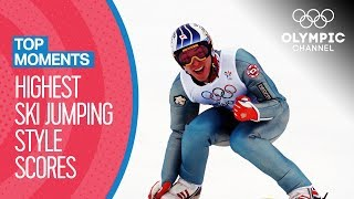 Top Olympic Ski Jumping Style Scores of All-Time | Top Moments
