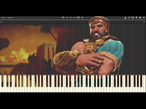 Civilization 6 OST Sumeria Modern Theme(Synthesia Piano Cover)