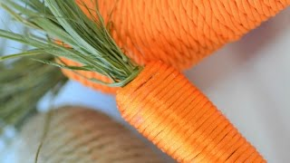 How to Make Adorable String Carrots