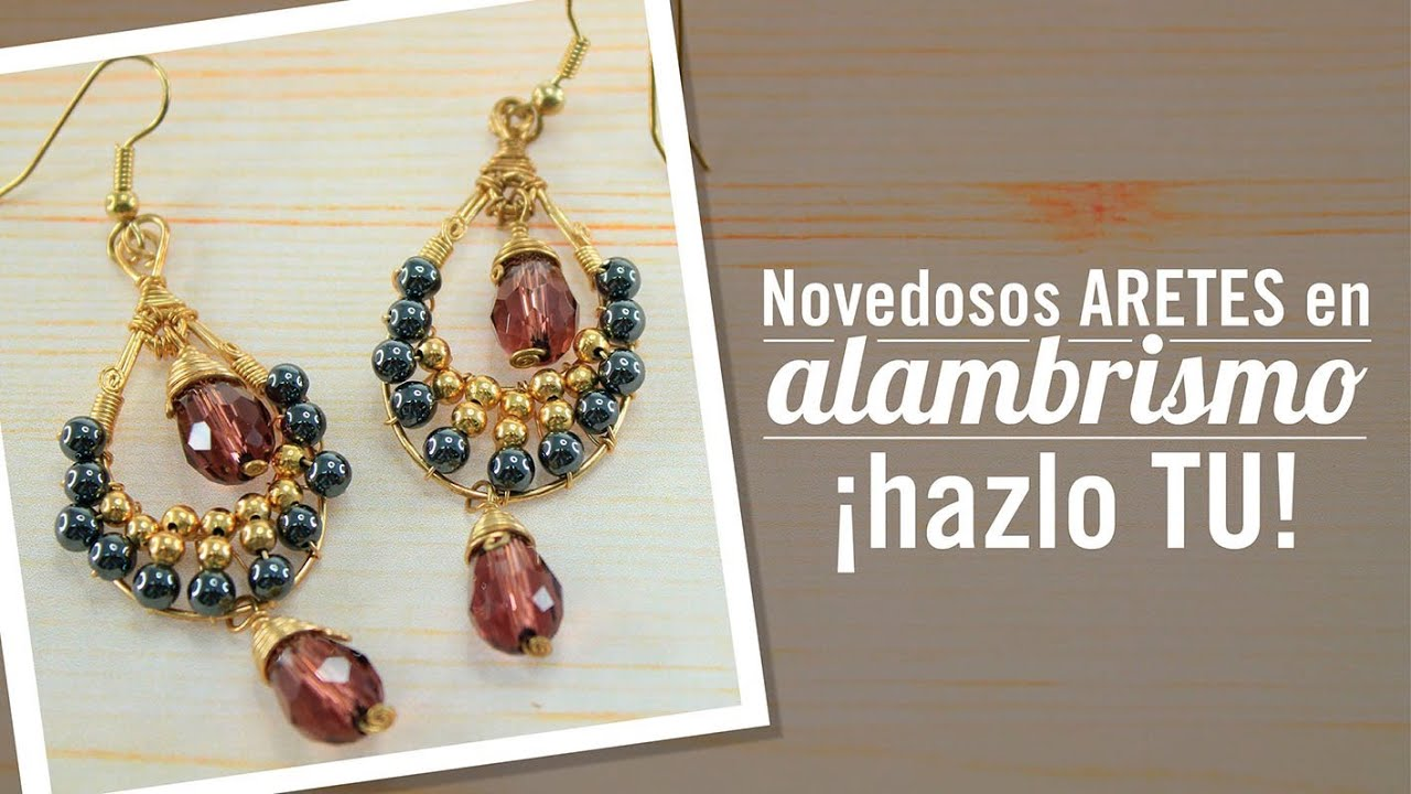 Como hacer aretes en alambrismo con Carolina Villacis episodio 13. Kit. 23350 , YouTube