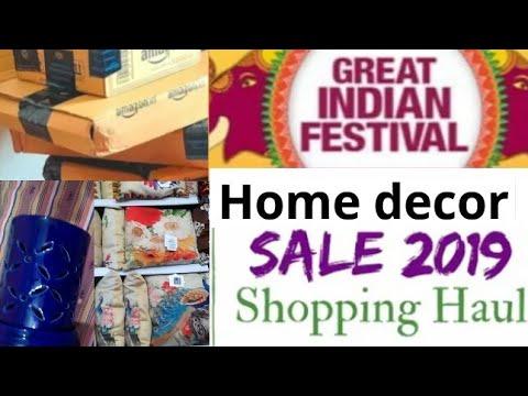 Homecentre, Amazon Home decor haul 2019 // Home decoration diwali sale haul