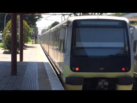 ATAC: Roma Metro Linea Roma-Lido Train Leaving Ostia-Antica