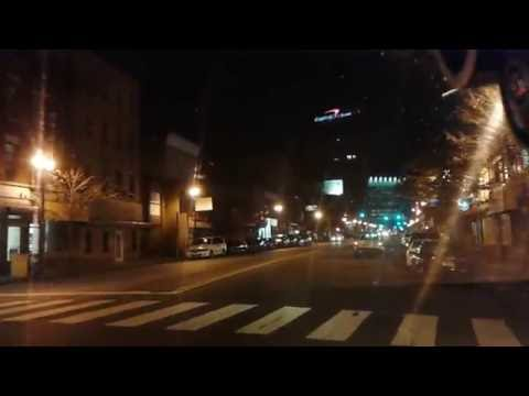 Driving in the night from Bergen/Lafayette to Journal Square — Jersey City, NJ